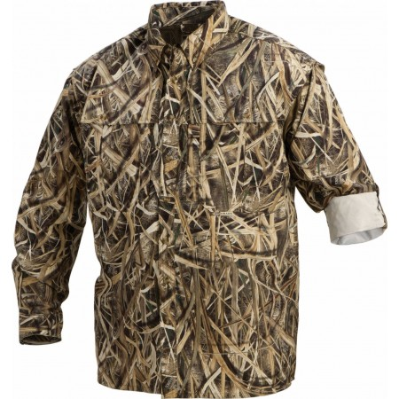 Drake Waterfowl - EST L/S CAMO VENTED WINGSHOOTER'S SHIRT