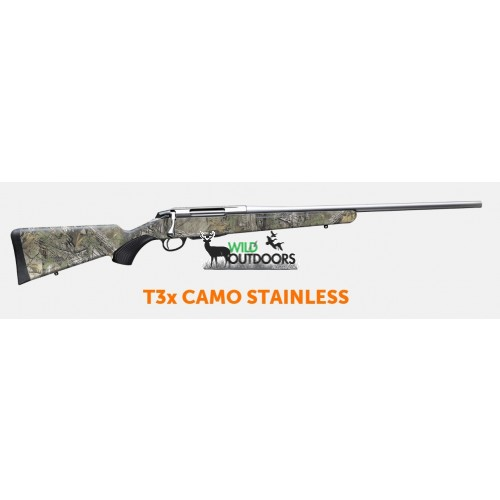Tikka T3x Stainless Camo Centrefire Rifle Right Handed