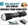 OLight - M23 Javelot Torch - Rechargeable Batteries - Charger - DIY KIT!